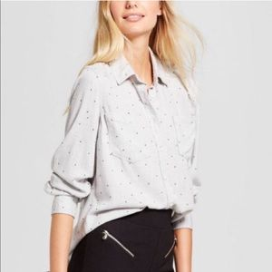 A New Day | Star Print Button Down Top
